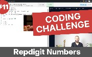 Day 12 of 30 - Ruby Coding Challenge - Repdigit Number Algorithm in a more...